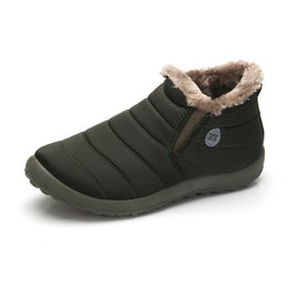 2018 Frauen Winter Schnee Stiefel Botas Damen Flache Wasserdichte Warme Dicke Plüsch Stiefeletten Für Frauen Winter Plateauschuhe von Fabrikanten