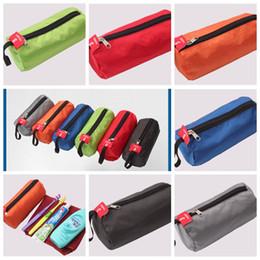 cosméticos misturados Desconto Saco De Armazenamento Multi Função Para Cosméticos Toalha Lanterna Color Mix Forma Cilíndrica Sacos De Lavagem Conveniente Ao Ar Livre Pacotes BBA285