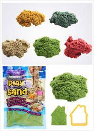 Canada 120pcs bricolage 100g / sac avec 1 modèle coloré argile jouer sable magie intérieure jouer sable enfants apprentissage jouets éducatifs cadeau de noël 5 couleurs Offre