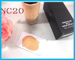 Wholesale cream liquid - In stock Makeup Foundation Makeup STUDIO FIX FLUID Foundation Liquid 30ML NC15 NC20 NC25 NC30 NC35 NC40