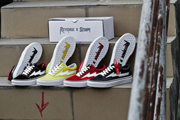 Wholesale Old Champagne - YSOOXC Revenge x Storm Pop-up Store Old Skool Sulfurized skateboard shoes LOGO bottom of the plate Couple shoes 10colors 35-44 with box