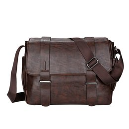 b9403be150f2 Wholesale- Christmas Gift 2017 New PU Leather Men s Shoulder Bags Matt  Feature Casual Crossbody Messenger Bag for Man Black Brown TC1418