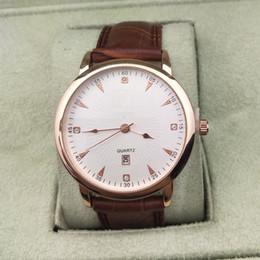 Wholesale Mens Black Sport Watches - 2018 New Sports Watches Leather Strap Luxury Brand Mens Watches WristWatches Calendar Quartz Busuness Men Watch