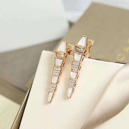 Brincos para o dia do casamento on-line-Longa ágata brinco colar de cobra Muse Viper stud brincos de casamento de design de luxo da mulher do Dia Dos Namorados jóias