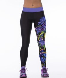 Wholesale Iron Running - New LOVE SPARK Patterns Purple Grape Printing Elastic Women's Leggings Red Iron Man Red 2XL 3XL Sport Pants