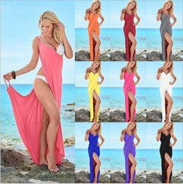 Wholesale Beachwear 4xl - Beach Plus Size Dresses Bikini Cover Ups Women Bandage Sexy Club Dress Summer Swimdress Bikinis Wraps Swimwear Beachwear Robe Vestido B3811