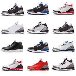 Wholesale winter boots size 13 - 2018 Hot cheap new Men Basketball Shoes Playoff Threepeat True Red Varsity Red sports shoes Sneaker Boots Size us 7-13