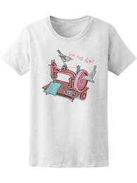 70376b1195a53 2019 t-shirt à coudre T-shirt vintage pour machine à coudre pour femme