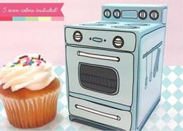 cookies individuais Desconto 24 pcs retro forno único cupcake caixa, cookie, doces deleite caixa para festa de aniversário