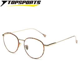 1f95038101 metal prescription glasses 2019 - Retro Optical plain Glass Spectacles  women men Prescription myopia frame Eyeglasses