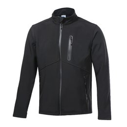 Wholesale Thermal Clothing For Men - Wholesale-Thermal Running Jacket Winter Warm Up Bicycle Clothing Windproof Waterproof Sports Coat MTB Bike Jersey For Men