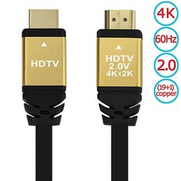 Wholesale high speed composites - v2 HDMI Cable High Speed 19+1 Pure copper 4K HDTV V2.0 60Hz 1.5m Supports 2160p 1080p 3D Ethernet Gold Plated Connectors PC PS engineering