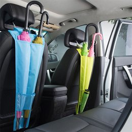 Araba Koltuğu Geri Şemsiye Saklama çantası Askı Katlanabilir Şemsiye Tutucu Kılıfı Anti Kir Araba Koltuğu Çantası Depolama T3I0366 cheap umbrella storage nereden şemsiye depolama tedarikçiler