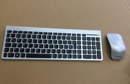Wholesale Set Lasers - MAORONG TRADING for Lenovo 8861 ZTM600 N70 mouse silver wireless laser keyboard and mouse set qwertz German US UK keyboard