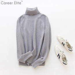 Wholesale Mens Wool Sweater Xxl - NEW 2018 Winter Sweaters Mens And Pullovers Men Clothes Brand Sweater Male Outerwear 4 Colors Knitted Turtleneck Sweaters M-XXL