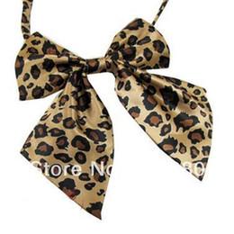 Wholesale Leopard Ties For Men - 2018 women leopard print fashion kid neck tie bowties cheap ties for men