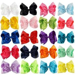 Wholesale Kids Rhinestone Hair Clips - Large Colorful Full Rhinestone Hair Bow With Clip Girl Dance HairPin Kids Crystal Party Hair Accessories