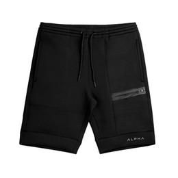 Pantalone di vitello online-Pantaloncini in cotone 2017 Calf-Length Bodybuilding Bodybuilding Moda maschile Casual Jogging pantaloni corti Pantaloni sportivi di marca Abbigliamento sportivo