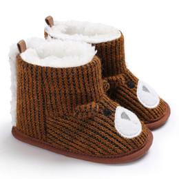 Nouveau-né bébé bottes unisexe enfants hiver chaussures bébé garçon Cartoon Russie motif de champ de neige Bottes neige butin ? partir de fabricateur