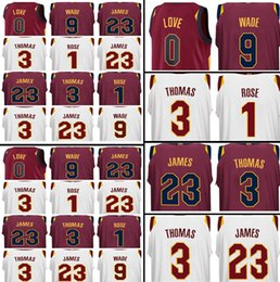 Wholesale Love Rising - Men's CLEVELAND 2017-2018 New 23 LeBron James Jersey 0 Kevin Love 9 Dwyane Wade 3 Isiah Thomas 1 Derrick Rose stitched Jerseys