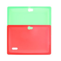Wholesale light tablet pc - Colorful Silicone Case Cover For Q8 Q88 With Flash Light Flashlight A33 Quad-core Android 4.4 Tablet PC 7 Inch Protective Shell