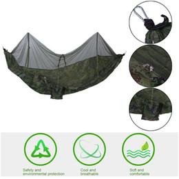 konvexes kissen Rabatt 260x130 cm Portable Leichte Zelt Fallschirm Stoff Outdoor Wandern Camping Schlaf Hängematte Hängenden Bett Mit Moskitonetz