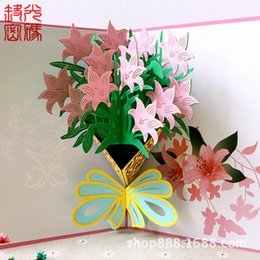 Wholesale Birthday Wishes Samples - Bai Baihe stereo card creative birthday gift girlfriend DIY scenic hot support custom paper