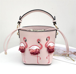 japan cell phones Promo Codes - Fashion &Hot New Design 3D Flamingo Pippa Satchel Crossbody Bag for Women Pink & White Color Bags