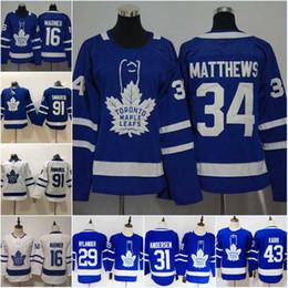 10707944685 Women Youth 91 Johntavares Toronto Maple Leafs 16 Mitchell Marner 34  Austonmatthews 43 Nazem Kadri Hockey Jerseys discount leafs jersey 43