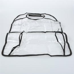 Bolsas de armazenamento traseiro on-line-1 PCS PVC Transparente Auto Organizador de Assento de Carro de Volta Assento Saco de Armazenamento De Carro Recipiente Multi-Bolso Saco de Viagem Anti-sujo Pad