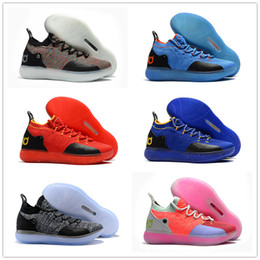 Wholesale youth purple basketball shoes - 2018 New Kid Women Youth KD XI 11 EP Oreo Black Sports Basketball Shoes Good quality Kevin Durant 11s Children Trainers Sneakers Size36-46
