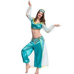 menina de roupas noturnas sexy Desconto Erótico Night Club Desempenho Roupas Filme Jogo Anime Uniforme Árabe Traje Cosplay Sexy Oriente Árabe Menina Vestido Extravagante