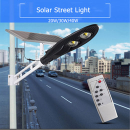 Wholesale Integrated Solar - 20W 30W 60W led solar street light waterproof integrated all in one Bridgelux LED Light Source outdoor led solar street light