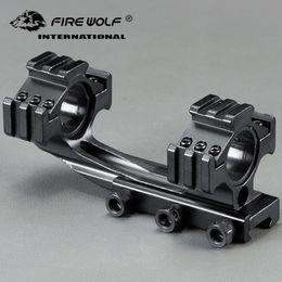 Sega di raccordo online-25.4mm / 30mm Anello Tri-Side Mount Cantilever Double Ring Mirino trasparente Scatto Sight Fixture Fit 20mm Rail Hunting