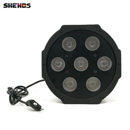 Wholesale Channel Business - 4pcs lot LED Flat Par 7x3W White Color Stage Lighting 5 Channels Business Lights High Power Light with Professional for Party Disco DJ