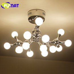 Wholesale Pendant Glass Shade - FUMAT Tree Branch Pendant Lamp Glass Ball LED Longree Attractive Glass Shade Pendant Light G4 Indoor Living Room Lamps Free Shipping