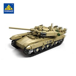 Wholesale Military Toys For Kids - KAZI Military Building Blocks 4 Style DIY Army Classic War Tank Bricks Toys Set Christmas Gifts For Kids Compatible Legoe City