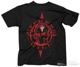 Maglietta del cranio dei ragazzi neri online-Maglietta Cypress Hill- Skull Compass T-Shirt XL - Nero Nuovo Arrivo Maschile T Shirt Casual Boy Tops Sconti Interessante