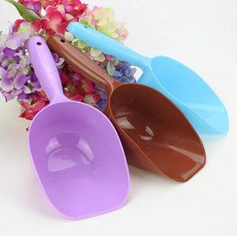 Wholesale Dog Automatic Feeding - Useful Pet Puppy Dry Food Spoon Plastic Hand Shovel Pets Feed Measuring Scoop For Dog Cat Bird Seed Random Color Pet tools