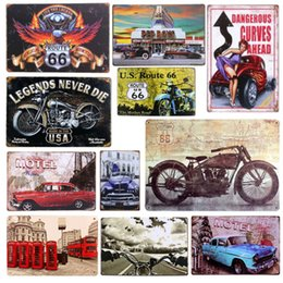Wholesale Iron Art Car - Plaque Car Theme Vintage Metal Tin Signs Motorcycle Wall Poster Decals Plate Painting Bar Club Pub Home Decor Wall 20*30cm