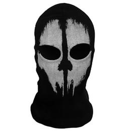 Wholesale Wholesale Skull Motorcycle Helmets - Balaclava Ghost Skull Face Mask Bike Motorcycle Helmet Hood Ski Sport Neck Face Mask