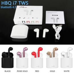 I7S I7 TWS Мини беспроводная гарнитура для наушников с микрофоном Stereo V4.2 Наушники Bluetooth Наушники с зарядным устройством для Iphone Android от Поставщики розовые наушники apple