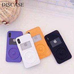Casos móveis engraçados on-line-Ins simples engraçado caso jogador de música do telefone móvel case para iphone 6 6 s 6 plus 7 7 plus 8 8 plus x 10 moda caso par