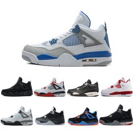 Wholesale Thunder 4s - 2018 4 4s Basketball Shoes men Toro-Bravo cavs bred Thunder Motosports Pure Money Royalty Cement Black cat Oreo Mars Blackmon Sports Sneaker