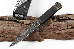 3 stili nuovo SOG KS931A 5CR13 lama superficie immagine 3D in acciaio + G10handle prezzo all'ingrosso coltello da sopravvivenza utensili da campeggio spedizione gratuita 56HRC da coltelli coltivati all'ingrosso fornitori