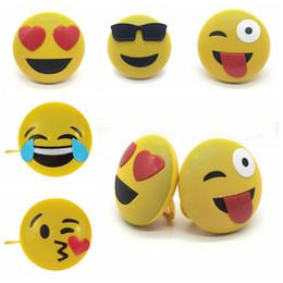 подставка для громкоговорителей Скидка 5 стили Переносной мини Emoji эмоции Bluetooth Беспроводной динамик с подставкой талреп QQ выражение телефона громкоговоритель CCA10653 20 шт.