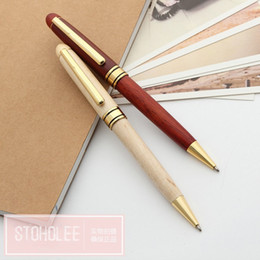 Wholesale german pens - Free Shipping Top Quality Wooden Ballpoint Pen Office School Suppliers Novelty Stationery German brand Ballpoint Pens