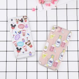 Wholesale case iphone drink - Cute Cartoon Drink Case For iphone 7 Case Sweet Lollipop Ice Cream For iphone 7 6 6s 8 Plus Case TPU Back Cover