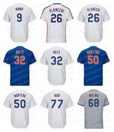 Wholesale molina baseball - Men's New York Jerseys 32 Steven Matz 68 Marcos Molina 50 Rafael Montero 77 Tomas Nido 9 Brandon Nimmo 26 Kevin Plawecki 44 AJ Ramos Jerseys