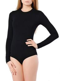 entrepierna Rebajas commencer Sección delgada de manga larga cuello redondo Snap entrepierna Body maillot Mujeres Leotardo Dance Clothing 0010 vestido